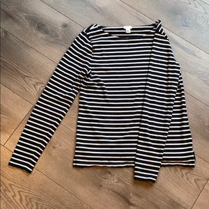 J Crew Striped Boatneck T-Shirt